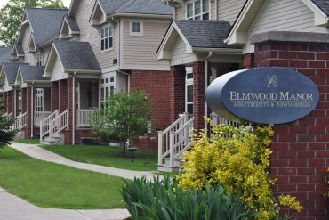 A row of Townhouses at Elmwood Manor.