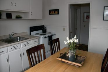 Kitchen in a One Bedroom Apartment.