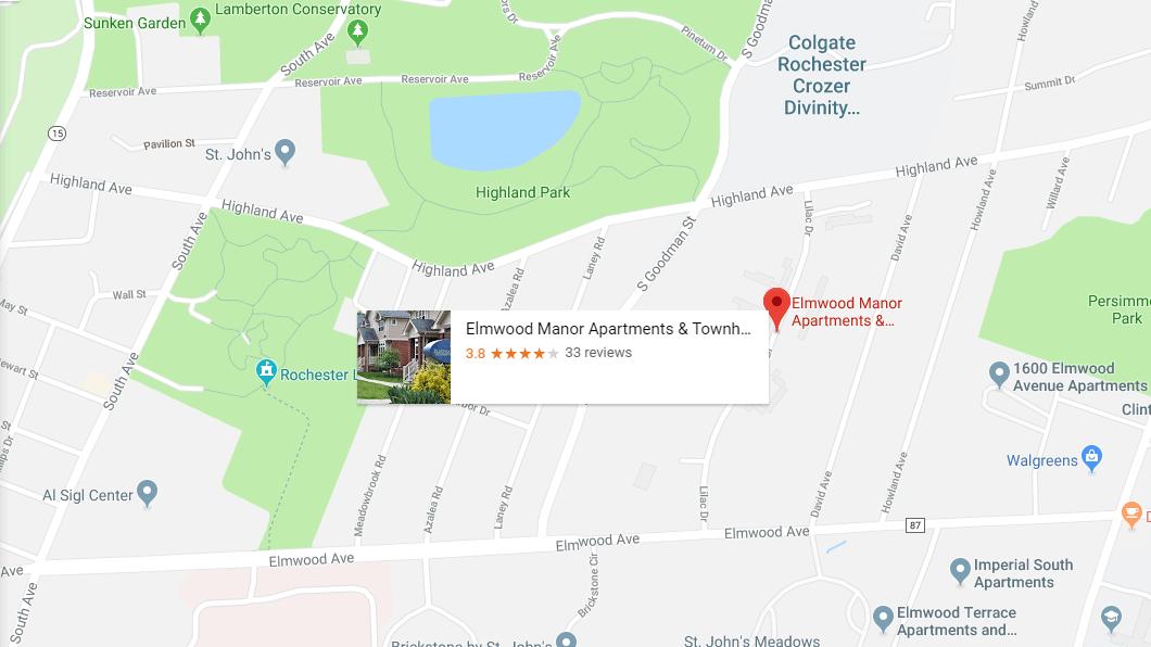 Google Map of Elmwood Manor location.