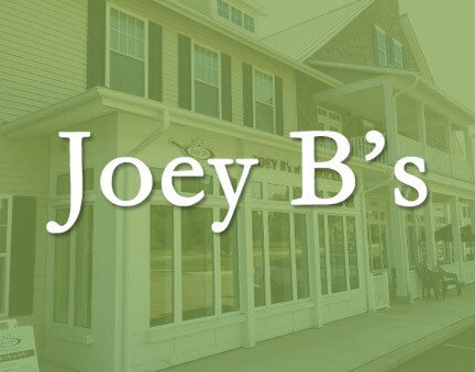 Exterior photo of Joey Bs and Logo