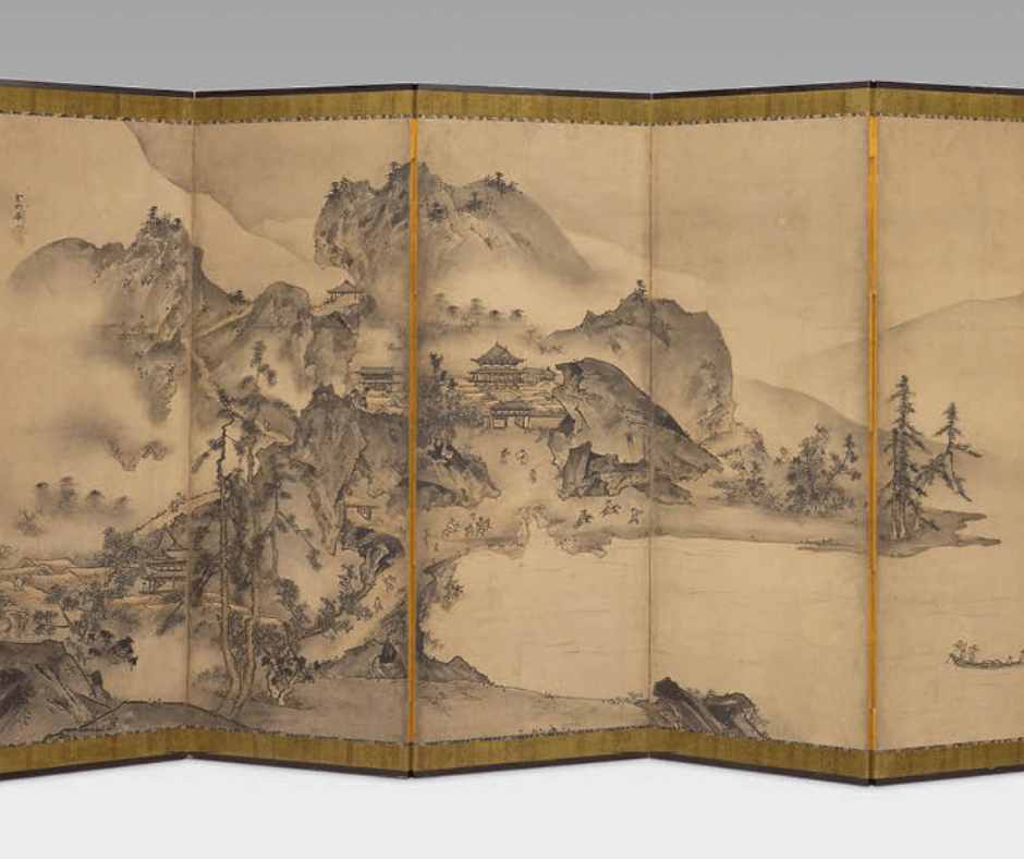 Chinese rice paper room divider